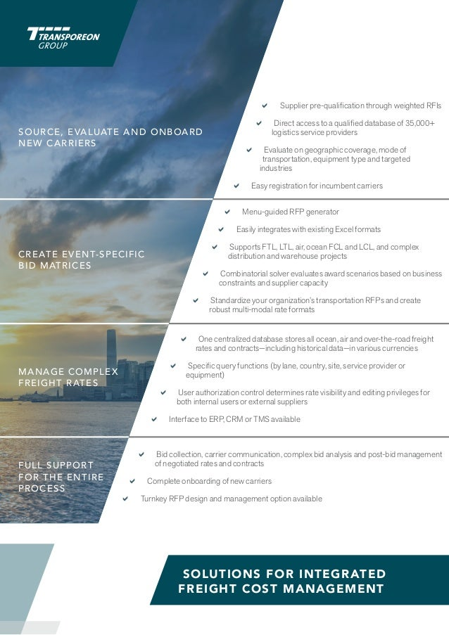 The Cloud-Based Multi-Modal Freight Spend Management Platform