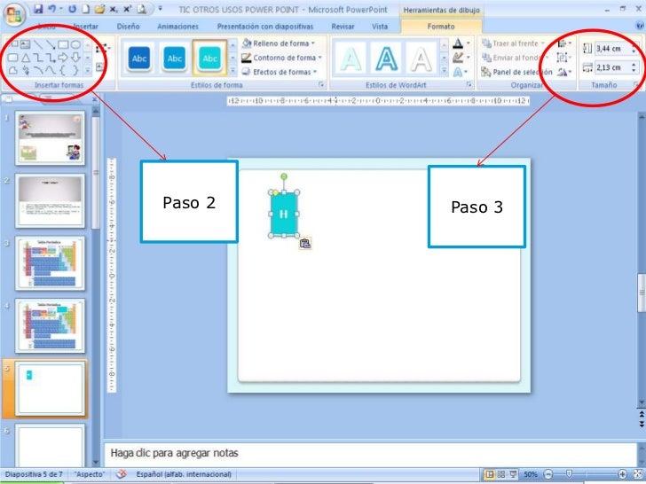 Tic otros usos power point tabla peridica paso 2 paso 3 urtaz Image collections