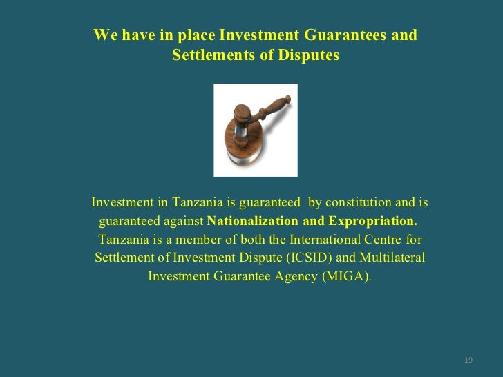 Tanzania investment centre incentives spa ab investment ltd