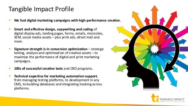 Creative that Counts - Beth Sibbring from Tangible Impact at Columbus WAW Slide 3