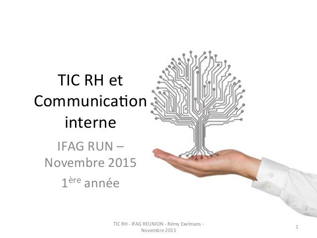 TIC  RH  et   Communica0on   interne   IFAG  RUN  –   Novembre  2015     1ère  année   TIC  RH...