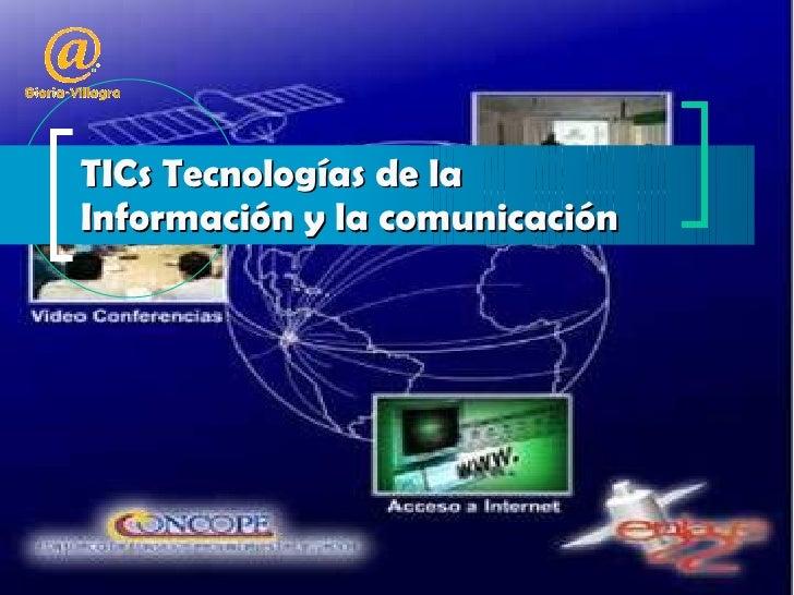 TICs Tecnologías de la Información y la comunicación