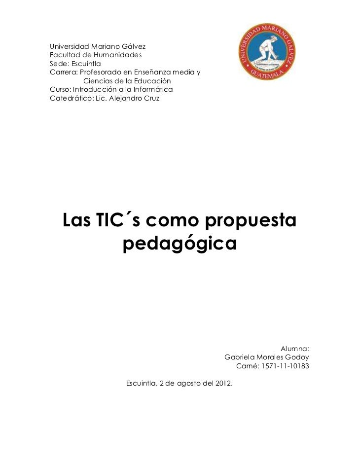 Universidad Mariano GálvezFacultad de HumanidadesSede: EscuintlaCarrera: Profesorado en Enseñanza media y           Cienci...