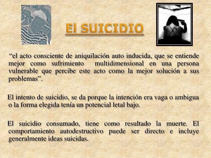 El Suicidio En Los Jóvenes