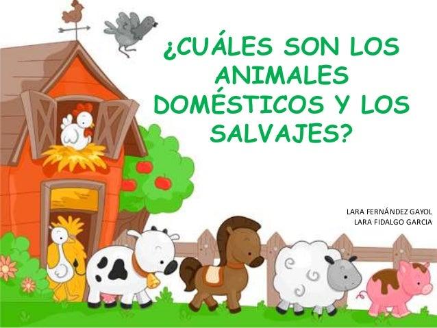 ¿CUÁLES SON LOS ANIMALES DOMÉSTICOS Y LOS SALVAJES? LARA FERNÁNDEZ GAYOL LARA FIDALGO GARCIA
