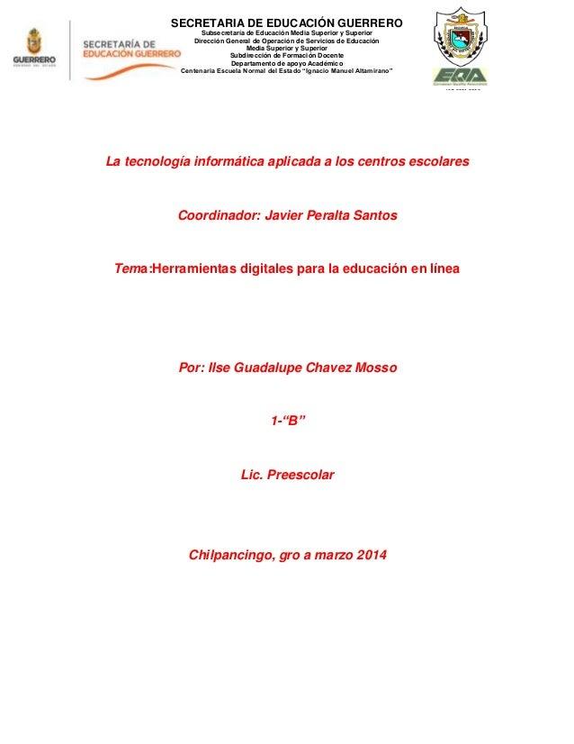 SECRETARIA DE EDUCACIÓN GUERRERO Subsecretaría de Educación Media Superior y Superior Dirección General de Operación de Se...