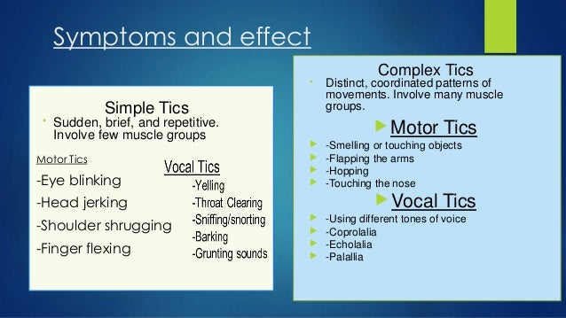 Symptoms of urette syndrome for Motor planning disorder symptoms