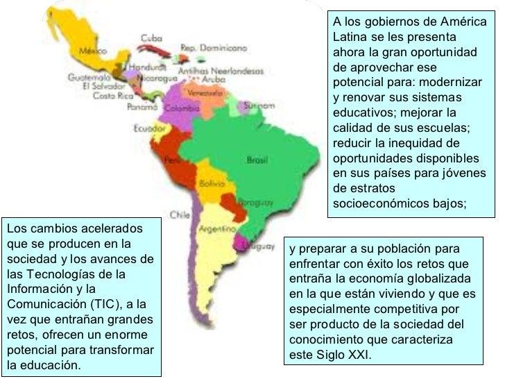 A los gobiernos de América                                    Latina se les presenta                                    ah...