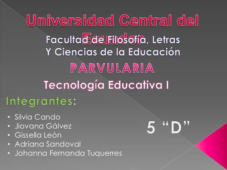 •   Silvia Cando•   Jiovana Gálvez•   Gissella León•   Adriana Sandoval•   Johanna Fernanda Tuquerres