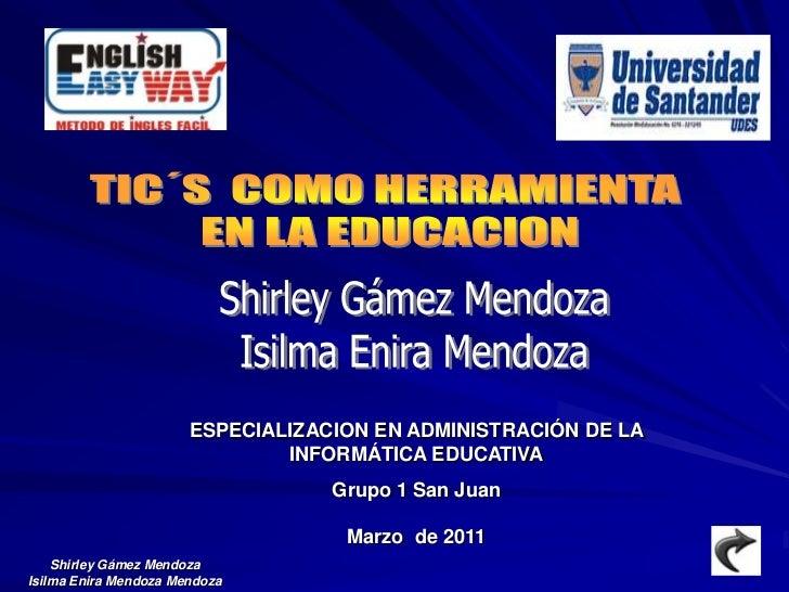 ESPECIALIZACION EN ADMINISTRACIÓN DE LA                               INFORMÁTICA EDUCATIVA                               ...