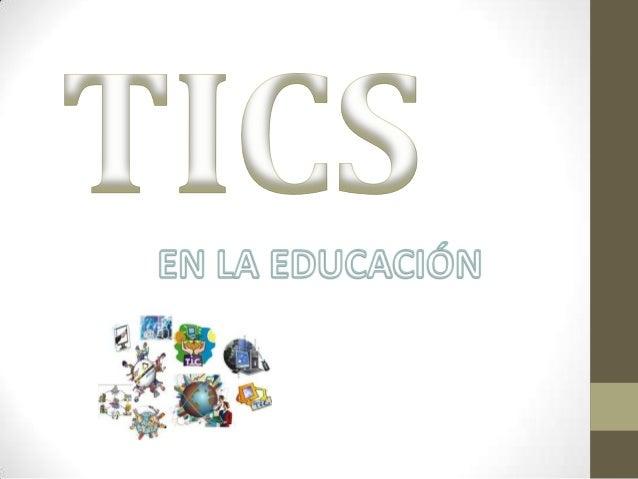 Tics en la educacion