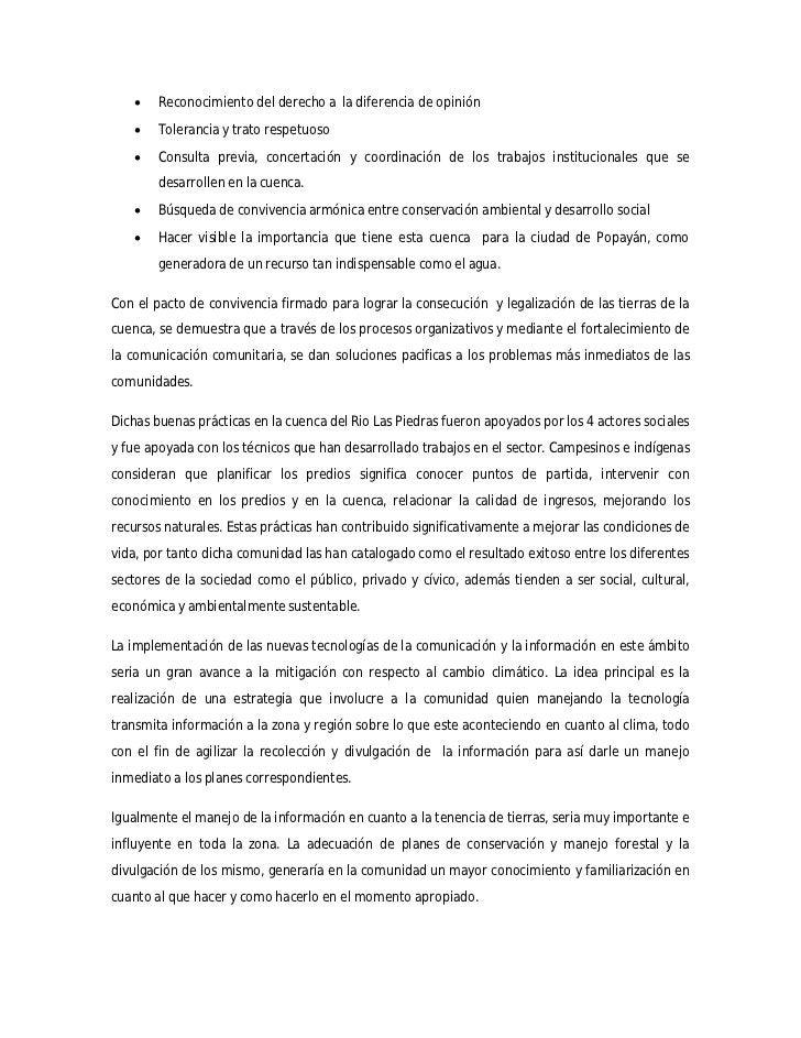    Reconocimiento del derecho a la diferencia de opinión       Tolerancia y trato respetuoso       Consulta previa, con...
