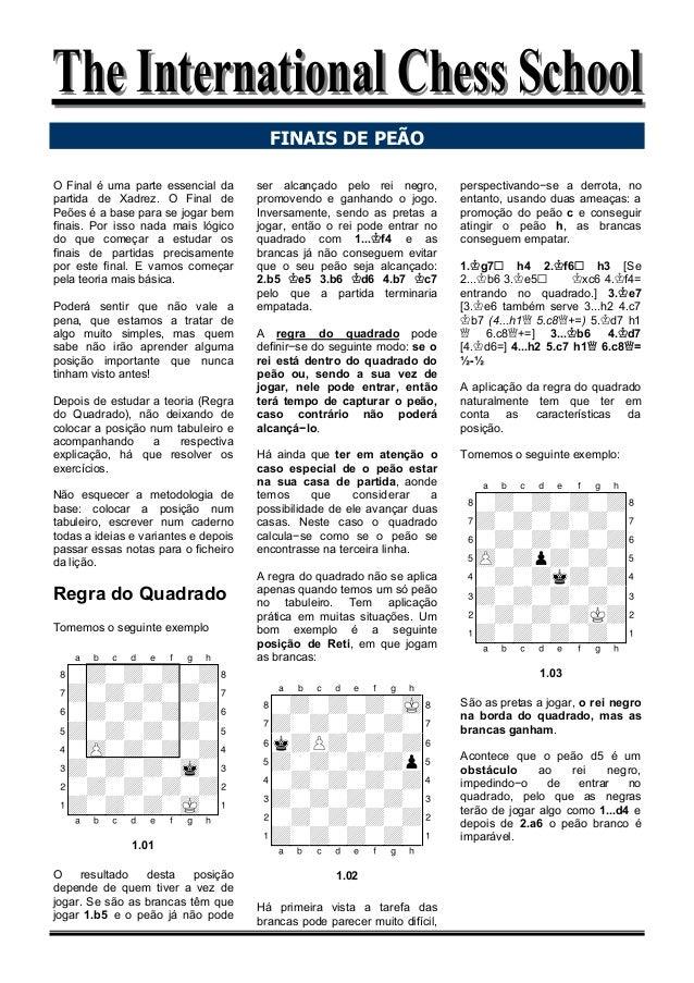 The International Chess SchoolThe International Chess School O Final é uma parte essencial da partida de Xadrez. O Final d...