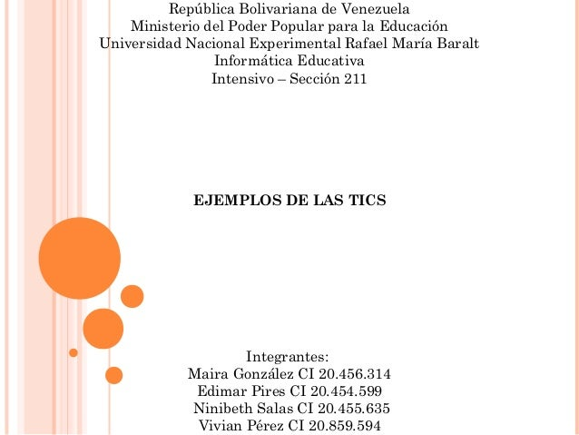 República Bolivariana de Venezuela Ministerio del Poder Popular para la Educación Universidad Nacional Experimental Rafael...