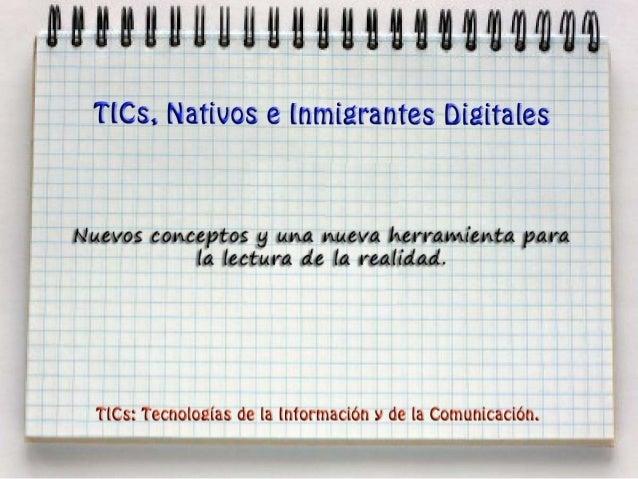 TICs, Nativos e Inmigrantes Digitales