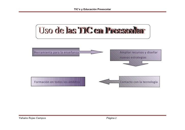 Tic's y educación preescolar