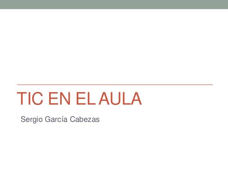 TIC EN EL AULASergio García Cabezas