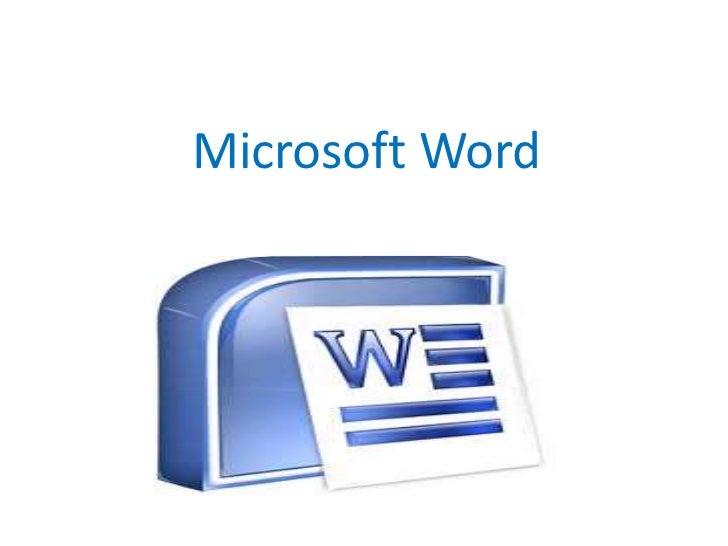 Microsoft Word<br />