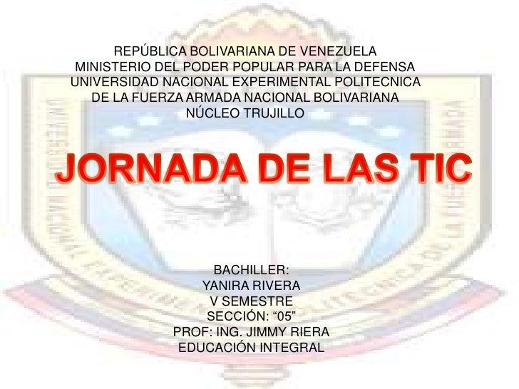 REPÚBLICA BOLIVARIANA DE VENEZUELA MINISTERIO DEL PODER POPULAR PARA LA DEFENSAUNIVERSIDAD NACIONAL EXPERIMENTAL POLITECNI...