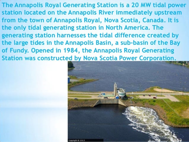 An environmental report about the tidal power in the bay of fundy in nova scotia