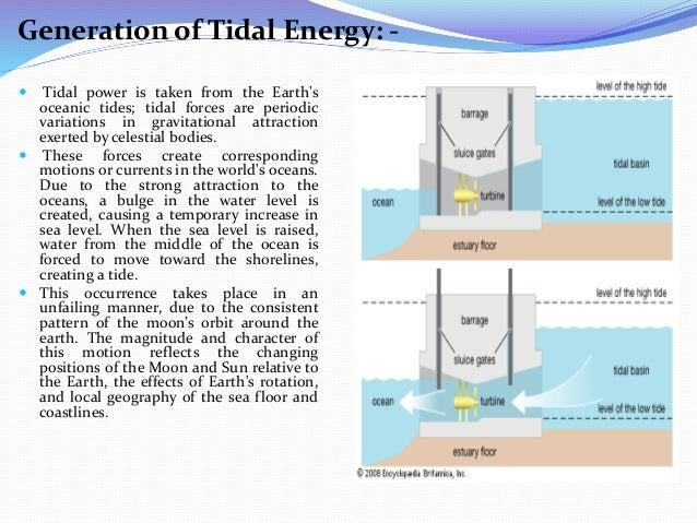 tidal power generation rh slideshare net tidal power plant line diagram tidal power plant layout