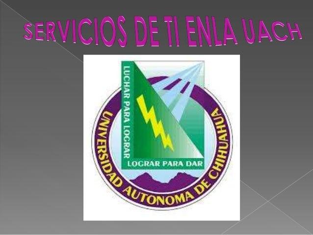 ESTOS SERVICIOS VAN DIRIGIDOS PRINCIPALMENTE A :