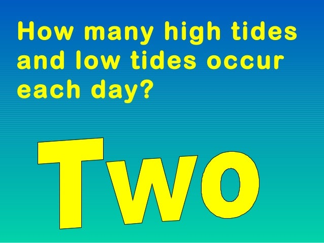Tides notes ppt at any given time ofthe day how manyhigh tides are there sciox Image collections