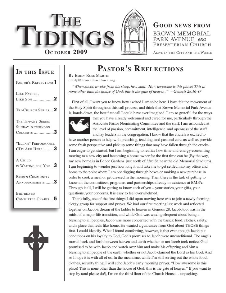 The Tidings                                                                                        G ood         news from...