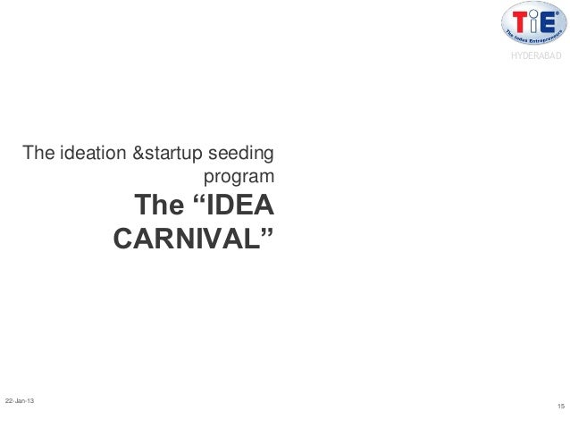 "HYDERABAD     The ideation &startup seeding                          program                The ""IDEA               CARNIV..."