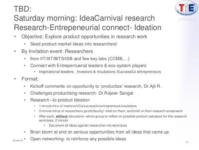 TBD:Saturday morning: IdeaCarnival research                                                                               ...