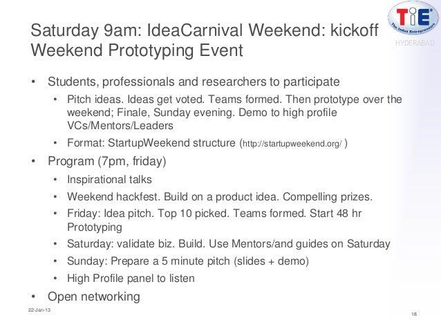 Saturday 9am: IdeaCarnival Weekend: kickoff                                                                               ...