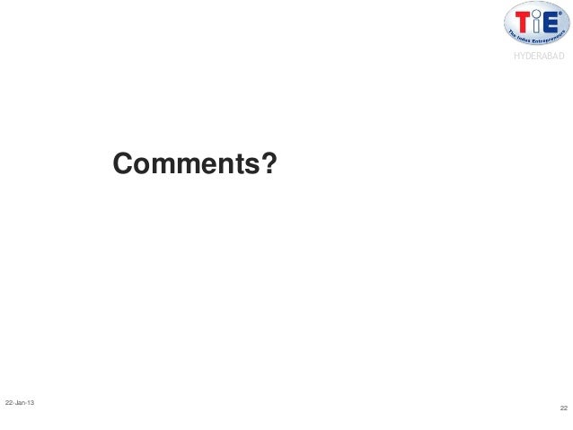 HYDERABAD            Comments?22-Jan-13                                22