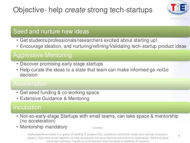 Objective- help create strong tech-startups                                                                               ...