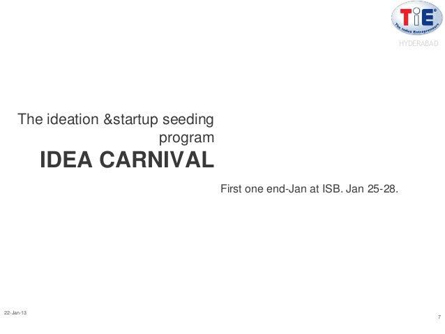 HYDERABAD     The ideation &startup seeding                          program            IDEA CARNIVAL                     ...