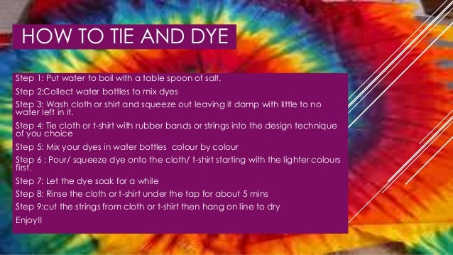 Tie and dye power point how to tie ccuart Image collections