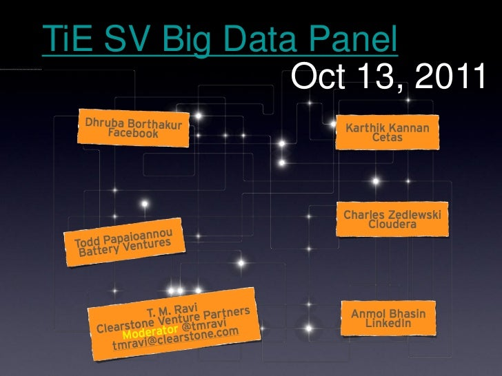 TiE SV Big Data Panel               Oct 13, 2011
