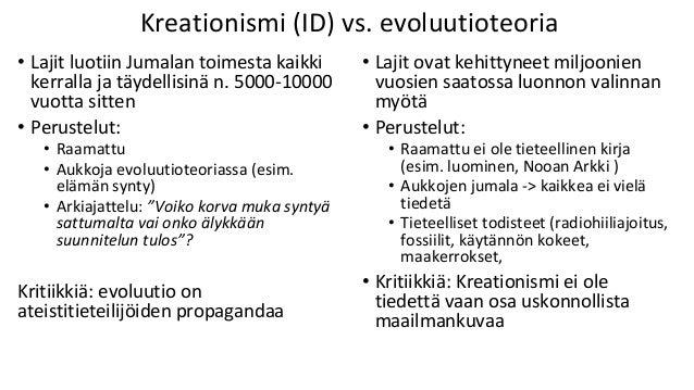 Evoluutio ja maailmankuva? A) Tieteellis-rationaalinen maailmankuva: tieteellinen tieto on luotettavaa ja evoluutioteoria ...