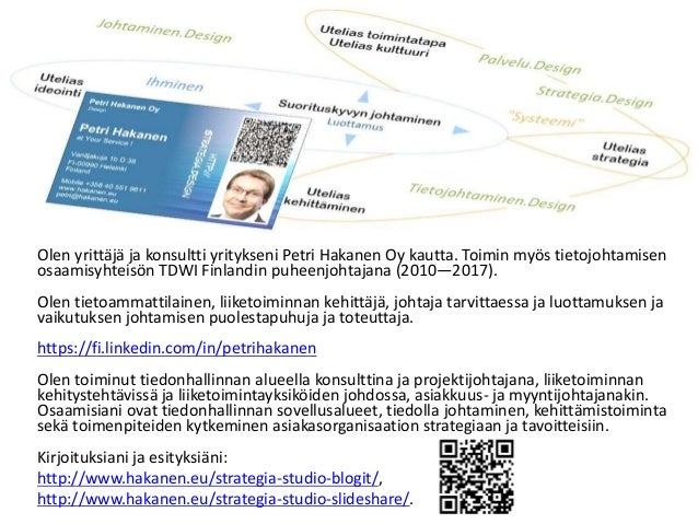 Tiedolla johtaminen Suomessa (2014) - Tutkimus - Petri Hakanen Slide 2