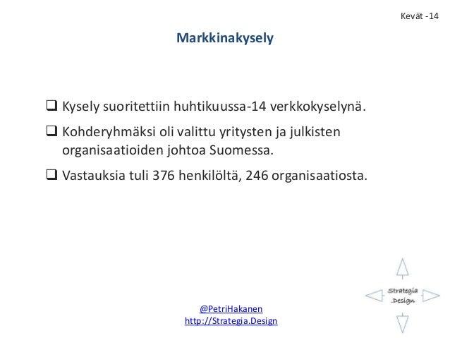 Tiedolla johtaminen Suomessa (2014) - Tutkimus - Petri Hakanen Slide 3