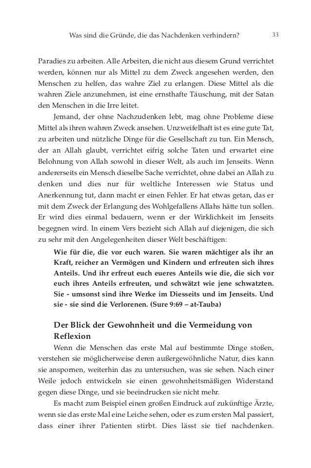 Tiefes nachdenken. german deutsche