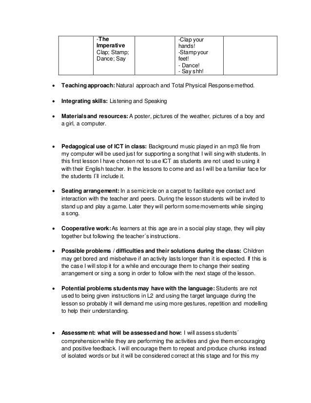 Kindergarten - Lesson plans 1 y 2