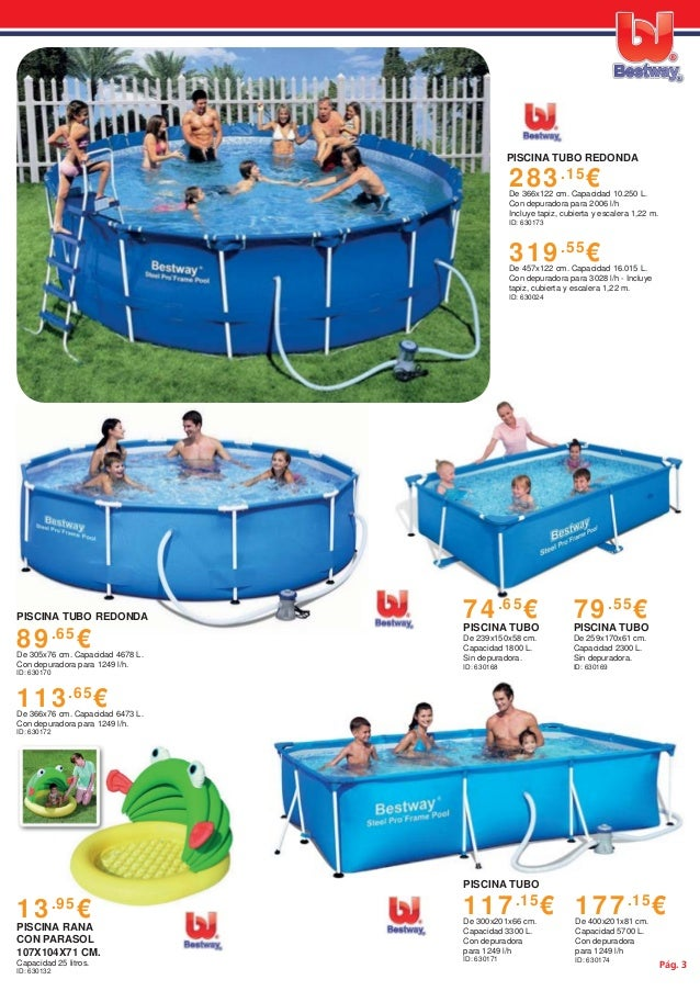 Cat logo de piscina y complementos bestway for Piscinas hipercor catalogo