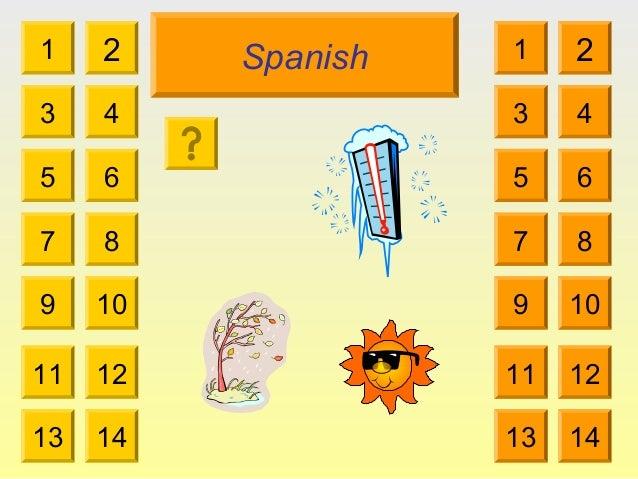 Spanish 1 3 2 4 5 7 6 8 9 10 11 12 13 14 1 3 2 4 5 7 6 8 9 10 11 12 13 14