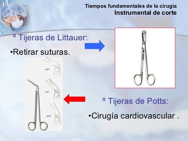 <ul><li>º Tijeras de Littauer: </li></ul><ul><li>Retirar suturas. </li></ul><ul><li>º Tijeras de Potts: </li></ul><ul><li>...