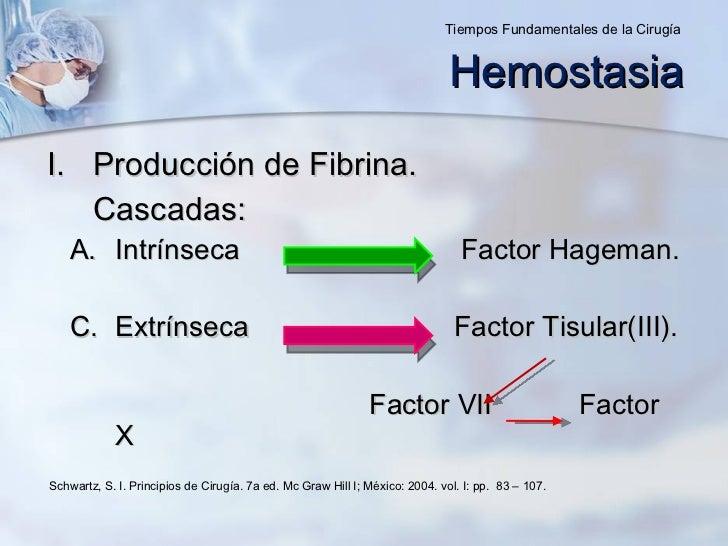 <ul><li>Producción de Fibrina. </li></ul><ul><li>Cascadas: </li></ul><ul><ul><li>Intrínseca  Factor Hageman. </li></ul></u...