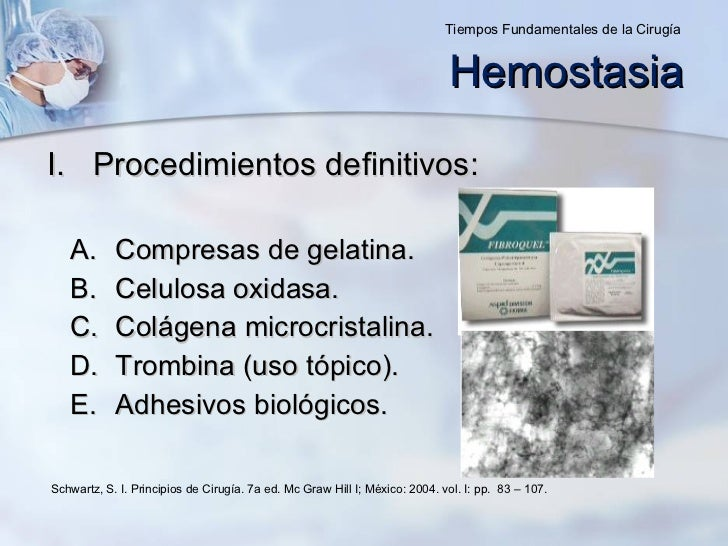 <ul><li>Procedimientos definitivos: </li></ul><ul><ul><li>Compresas de gelatina. </li></ul></ul><ul><ul><li>Celulosa oxida...