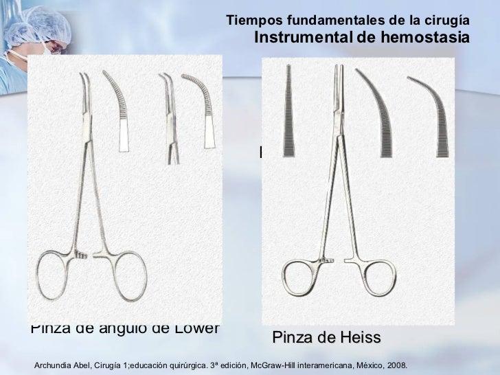 <ul><li>Pinza de ángulo de Lower </li></ul><ul><li>Pinza de Heiss </li></ul>Archundia Abel, Cirugía 1;educación quirúrgica...