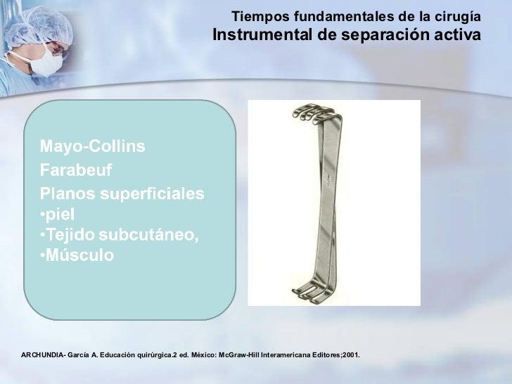 ARCHUNDIA- García A. Educación quirúrgica.2 ed. México: McGraw-Hill Interamericana Editores;2001. Tiempos fundamentales de...