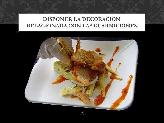 Tiempos y movimientos de cocina y decoraci n de platos - Decoracion de platos ...