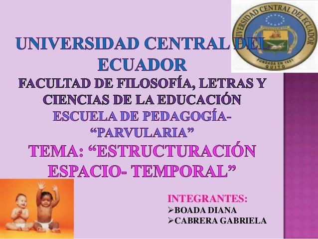 INTEGRANTES:BOADA DIANACABRERA GABRIELA